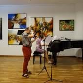 (Bild: Proben zum Konzert von Vladimir Tsypin und Anna Federova-Latso)