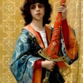 Alexandre Cabanel, Junger Page in florentinischem Gewand, 1881, Öl auf Leinwand, Privatsammlung