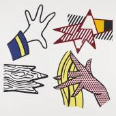 """LICHTENSTEIN, ROY 1923 New York 1997   """"Study of Hands"""". CHF 8'500"""