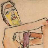 Egon Schiele, Erwin Dominik Osen als Akt mit überkreuzten Armen, 1910, Leopold Museum, Wien, Foto: Leopold Museum, Wien/ Manfred Thumberger