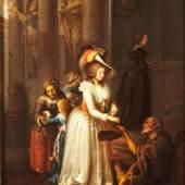 Johann Jakob Dorner d. Ä.: Das Almosen, 1790, Öl auf Holz © Münchner Stadtmuseum