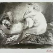 Pablo Ruiz y Picasso, Le Dormeur, 1942, Lithographie, Papier, 48 x 62,8, Ka III 998