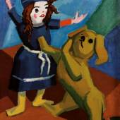 Rudolf Wacker, Stillleben mit Puppe und Hund, um 1923 © Leopold Privatsammlung, Foto: Leopold Museum, Wien/Manfred Thumberger