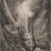 Foto Ernst Fuchs Kat. 0062 Ernst Fuchs Triumph der Sphinx, 1966 Graphit auf Papier; 73 x 58 cm Meistbot € 25.000