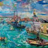 "539 – Oskar Kokoschka, ""Venedig, Bacino di San Marco"", 1948, verkauft: € 604.800,-"