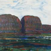 """Piet Mondrian (1872 – 1944) """"Haystacks III"""". Öl auf Leinwand, mgr. u.l., 35x45 cm Schätzpreis: CHF 95'000.-, ZUCHLAG: CHF 360'000.-"""