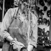 """Greenwood, Elisa: """"bei der Arbeit"""" post pop art; Industrieviertel Foto: Franz Baldauf - Abdruck honorarfrei bei Namensnennung (im Zusammenhang mit den """"NÖ Tagen der offenen Ateliers 2016"""")"""