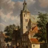 ADRIANUS EVERSEN (1818-1897), WOHL ANSICHT DER ANDREASKIR-CHE IN HATTEM, Öl auf Leinwand. 48 x 38,5 cm. Signiert unten rechts 'A. Eversen'. Erlös 15.000,- €