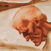 Albin Egger-Lienz Schätzpreis € 25.000 - 50.000 (Stribach bei Lienz 1868-1926 St.Justina bei Bozen) Kopf eines Greises, um 1920