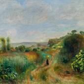 Pierre-Auguste Renoir Schätzpreis € 150.000 - 300.000 (Limoges 1841 - 1919 Cagnes-sur-Mer) Paysage à Cagnes, um 1898