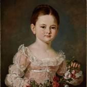 Barbara Krafft (1764–1825), Porträt eines unbekannten Mädchens mit Blumengirlande, 1810–1815, Öl auf Leinwand, © Salzburg Museum