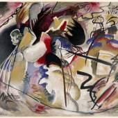 Wassily Kandinsky, Tableau avec formes blanches (Bild mit weisser Form), 1913, Lithographie in 8 Farben