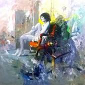Antonio Tamburro: Donna seduta / Courtesy of 6° Senso Art Gallery, Roma / Italy