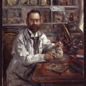 Ludwig Edinger beim Sezieren eines Gehirns, Lovis Corinth, 1907, Historisches Museum Frankfurt, Foto: Horst Ziegenfusz