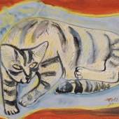 "336  Pol Cassel ""Katze auf Blau"". 1926. 3200"