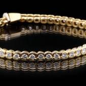 Rivière-Armband. Wohl 1990er Jahre. 4800