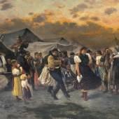 Gyula Aggházy 'Tanz auf dem Jahrmarkt' (Lot. 61)
