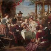 """12  Adolf Wichmann """"Ein Gastmahl bei Rembrandt"""". Um 1866. 18000 €"""