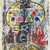 Hans Staudacher * Rufpreis€ 1.500 (St. Urban 1923 geb.) o.T., 1991 Mischtechnik auf Papier; ungerahmt; 70 × 50 cm Signiert und datiert unten im Bild: H Staudacher 1991
