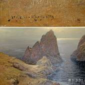 "MÜLLER-KURZWELLY, KONRAD (1855-1914): Die Faraglioni-Felsen vor Capri"". Aufrufpreis: 3.600,00 €"