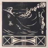 """KatNr. 617 Ernst Ludwig Kirchner   617   Ernst Ludwig Kirchner """"Trennung"""". 1905. 3000 €"""
