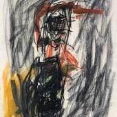 Georg Baselitz * Schätzpreis€ 25.000 - 50.000 (Deutschbaselitz 1938 geb.) o.T., 1991 Kohle, Pastell und Fettkreide auf Papier; 65,5 × 50,5 cm