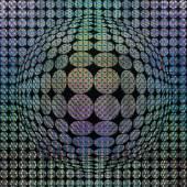Victor Vasarély * Schätzpreis€ 35.000 - 70.000 (Pecs 1908 - 1997 Paris) Vega, 1972 Collage; 88 × 88 cm (Ausschnitt)