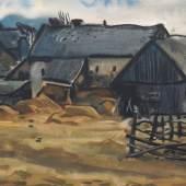 """Curt Querner """"Carsdorf im März"""". 1964. Schätzpreis: 7500 €"""