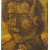 """Hermann Glöckner """"Frauenkopf, in Gelb und Braun, mit weißer Brosche (Johanna)"""". Vor 11.10. 1932. 5000 €"""