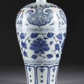 MEIPINGVASE MIT FLORALDEKOR, China, frühe Ming-Dynastie