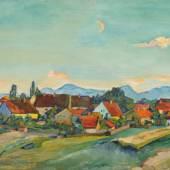 """Paula Lauenstein """"Das Dorf"""". 1932. Schätzpreis: 5000 €"""