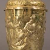 Seltener Barockdeckelhumpen, Silber voll vergoldet, Freiberg in Sachsen um 1680/90, Meister Andreas Müller Artikel-Nr. 6567 Ausruf € 5800
