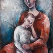 Josef Floch * (Wien 1894 - 1977 New York)  Mutter mit Kind, 1927/28 Öl auf Leinwand; 110,5 × 75 cm,  Meistbot€ 220.000 (ohne Aufgeld)