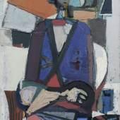 Joachim Heuer, Sitzende Figur im Raum. Späte 1950er/ frühe 1960er Jahre. 4200 €