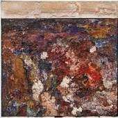 Valentin Oman (St. Stefan b. Villach 1935 geb.) Nebo in Zemlia - Himmel und Erde, 2014 Öl und Sand auf Leinwand; ungerahmt; 50 × 50 cm, RUFPREIS € 1.500