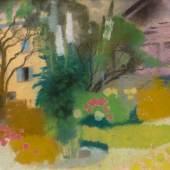 AUGUSTO GIACOMETTI (1877-1947), BLÜHENDER GARTEN IN STAMPA, Pastell auf Papier. SM 24,5 x 32 cm. Provenienz: Niedersächsische Privat-sammlung. Limit 20.000,- €.