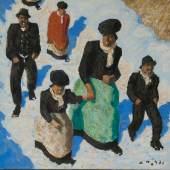 Walde, Alfons 'Kirchstiege', 1957 Schätzpreis: 55000 - 65000 EUR
