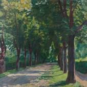 'Lindenallee im Sommer (Potsdam, russisches Dorf)', 1937 'Forest Road', 1937  Künstler:     Franck, Philipp Schätzpreis:     8000 - 10000 €