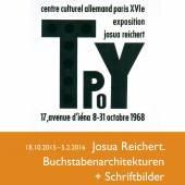 """Plakat: Josua Reichert: """"Buchstabenarchitekturen und Bilder"""""""