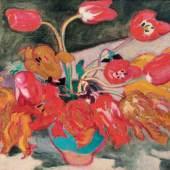 Tulpen in einer Vase' von Louis Valtat