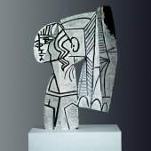PPablo Picasso Sylvette, 1954 beidseitige Ölmalerei auf ausgeschnittenem Metallblech 69,9 x 47 x 1 cm © Succession Picasso/ Bildrecht, Wien, 2017