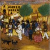 Pablo Picasso, Autour des arènes, circa 1900, paste…00 – 350,000)