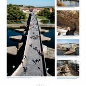 """Ausstellung """"Seht, welch kostbares Erbe!"""", Foto- und Texttafel Steinerne Brücke in Regensburg © Deutsche Stiftung Denkmalschutz"""