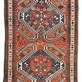"""Lenkoran 228 x 153 cm (7' 6"""" x 5') Caucasus, ca. 1880"""