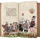 Nuremberg - Renaissance Chronicle and Schembartbuch. Ein schöne unndt kurze Kronnica...1449 - 1539. 125.000,- (Inlibris, Wien/Kotte, Roßhaupten)