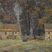"""022   Otto Altenkirch """"Das alte Hellergut (Herbst)"""". 1928. 5500 €"""