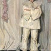 """029   Ferdinand Dorsch """"Weisser Pierrot"""". Wohl 1915. 4800 €"""