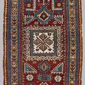 """Kazak Prayer Rug 221 x 117 cm (7' 3"""" x 3' 10"""") Caucasus, late 19th century"""