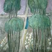 Helen Dahm: Paradiestraum, 1961, Öl auf Leinwand, 100 x 100,5 cm