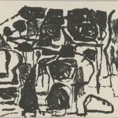 Philip Guston, Untitled, 1963, Lithographie, 635 x 850 mm, Privatsammlung  Foto: Staatliche Graphische Sammlung München © The Estate of Philip Guston, New York